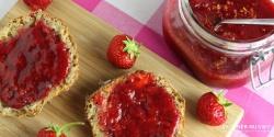 Jordbærmarmelade med appelsin og vanille