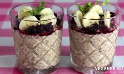 Veganer.nu-overnight oats med chiafrø, kanel og frisk frugt